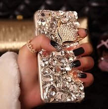 Bling Fox Crystal Rhinestone Diamond Case For Iphone4 5 5C 6/6S 7/7 Plus&Samsung Note7 5 4 3 2 S7 S6 Edge Plus S5 S4 S3 A8 7 5 3(China (Mainland))