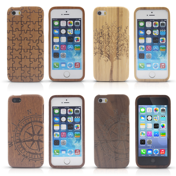 New Style Bamboo Traditional sculpture Wood Hard Back Wooden Case Cover phone Case for iphone 5 5S HPC0228(China (Mainland))