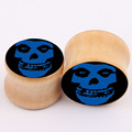 new skull explosion real wood bones ear piercing jewelry earrings PLUG expansion body pricing for men
