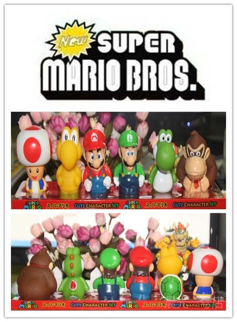 """Super Mario bros Фигурку Nintendo 2 """"Фигурки Серии 3, 6 Пачек в коробке цвета бесплатной доставкой"""
