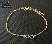 2015 fashion women jewelry vintage cz crystal Elegant Infinity Bracelet(China (Mainland))