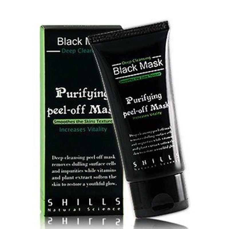2pcs Deep Cleansing purifying peel off Black mud Facail face mask Remove blackhead face mask 50ml(China (Mainland))
