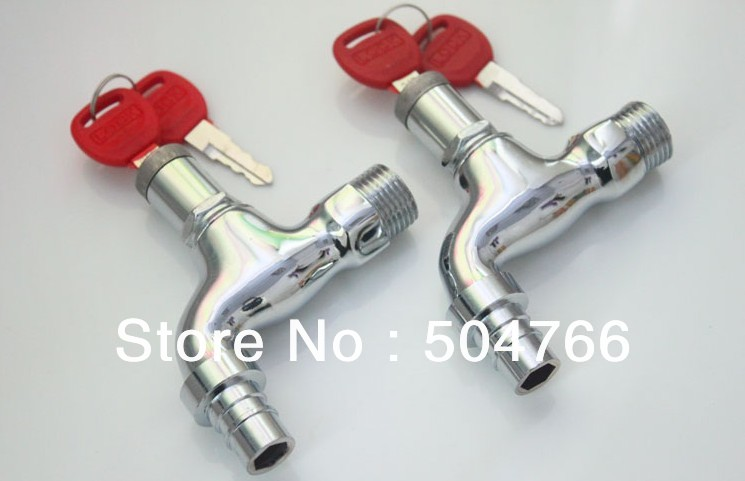 Factory cost price 1/2 inch brass bibcocks faucet with lock Lin-10(China (Mainland))