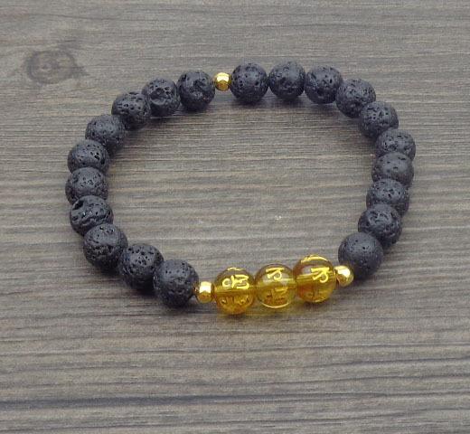 12 pcs/lot Man Bracelet Tibetan OM MANI PAD ME HUM Amulet Mantras bracelets Natural stone beads jewerly etsy bracelet Free ship