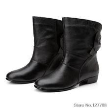 Nueva Llegada de la muchacha de cuero completo botas otoño primavera botas de nieve ocasionales high-top de cuero genuino zapatos de las mujeres A443(China (Mainland))