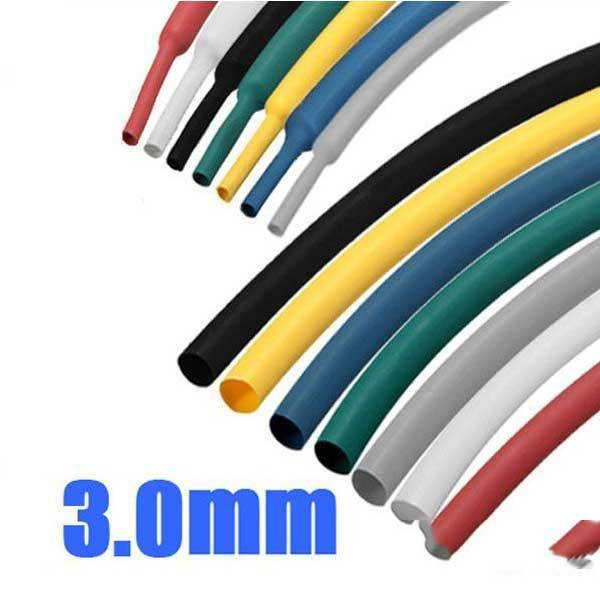 BattLake 1 8 Inch 1M 3.0MM 7Color 2:1 Polyolefin Heat Shrink Tube Sleeving Wrap(China (Mainland))