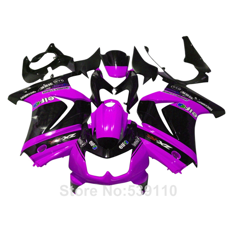 high quality ABS plastic fairing Kawasaki ninja 250r purple black 08 09 10 11 12 13 14 EX250 2008-2014 fairings kit TY23(China (Mainland))