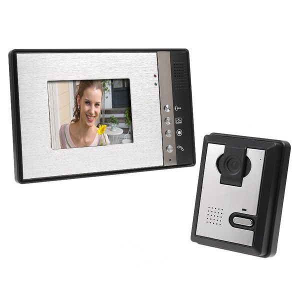 """Wired Color 5.6"""" TFT LCD Display 4-line Video Door Phone Doorbell Intercom System With High Definition IR Night Vision Camera(China (Mainland))"""