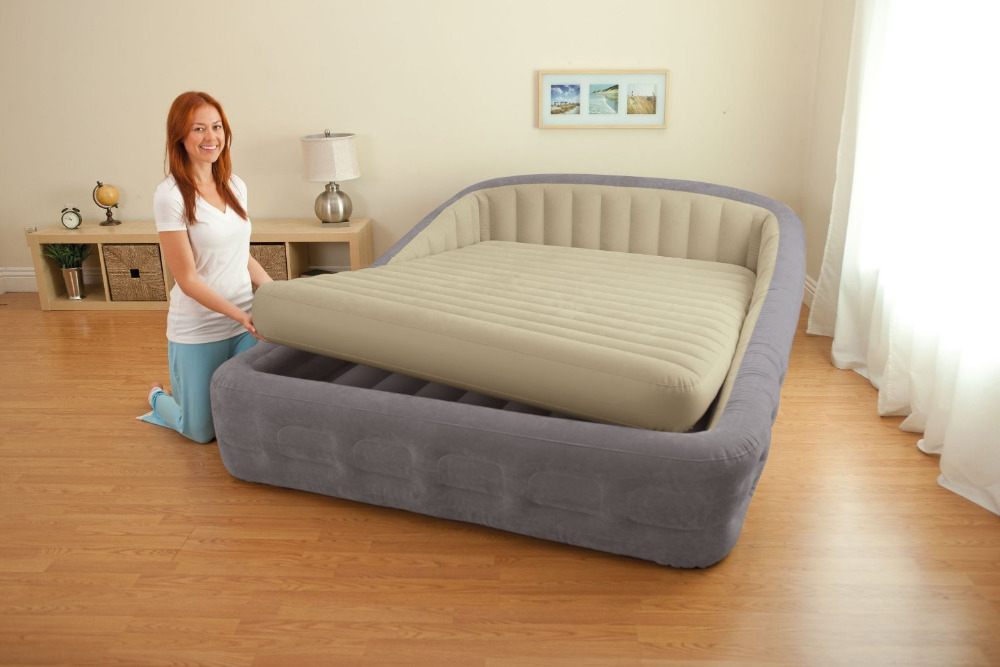 intex 67972 king size inflatable bed with electric air ...