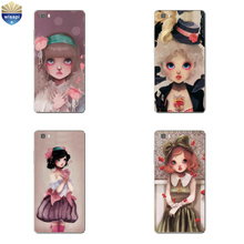 Phone Case Huawei P8/P8 P9 Lite Plus G9 Shell Honor 4A 4C 5C 7 7I Back Cover Mate 8 Cellphone Big Eyes Girl Design Painted - WISAPI Store store