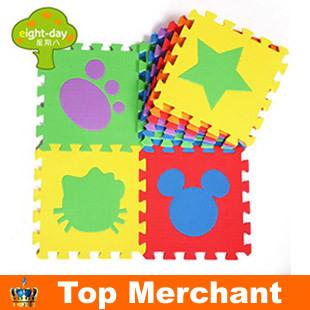 6pcs Set environmental foam jigsaw puzzle mats EVA geometric pattern baby play mats foam non-slip mat kids jigsaw game mat PX09(China (Mainland))