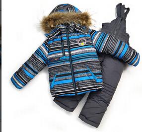 DT0154 Russia Children Winter Clothing Set Baby Boys Ski Suit Kid Sets Windproof Warm Coat + Bib Pants + Vest 3pcs. set(China (Mainland))
