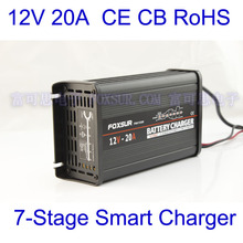 Free Shipping wholesale original 12V 20A 7-stage smart Lead Acid Battery Charger,12V  Car battery charger, MCU controlled(China (Mainland))