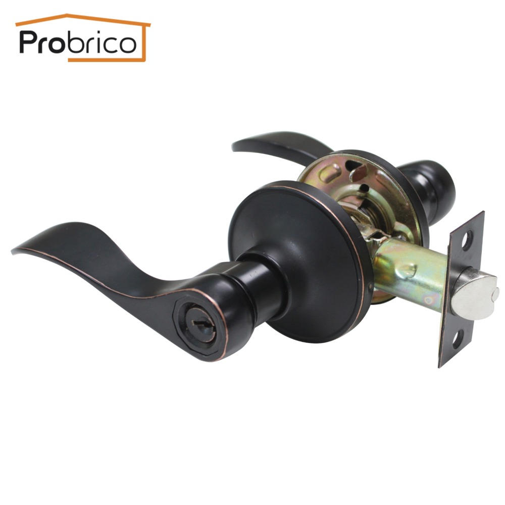 Probrico Wholesale 10 PCS Security Safe Key Door Lock Stainless Steel Oil Rubbed Bronze DL12061ORBET Entrance Locker(China (Mainland))