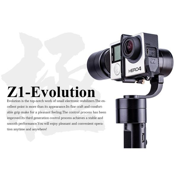 Zhiyun Z1-EVOLUTION EVO 3 Axis Handheld Stabilizer Brushless Gimbal for GoPro Hero 4 XiaoMi Yi SJ4000 SJ5000 Sport Cameras