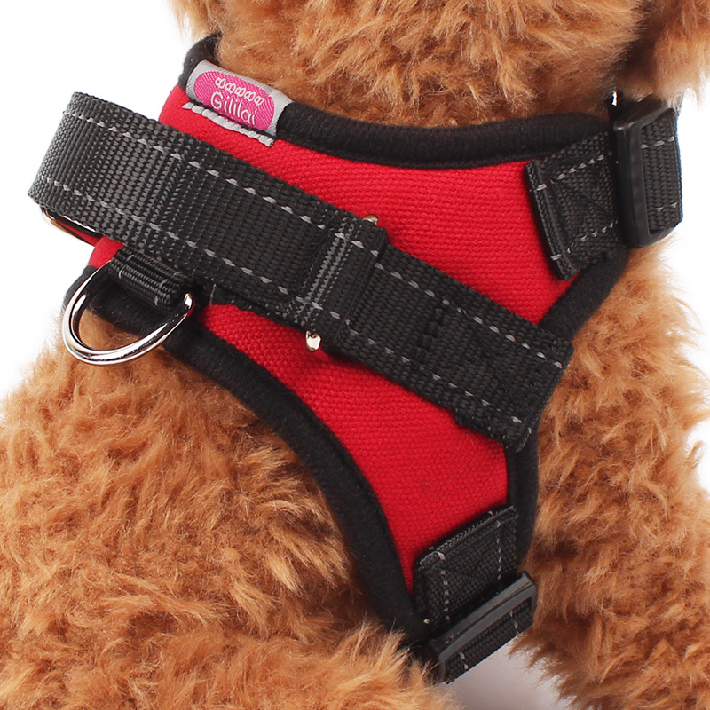 Thick Saddle Type Large Dog Chest Back Clothing Traction Rope Three Colors Hot Sale Free Shipping(China (Mainland))