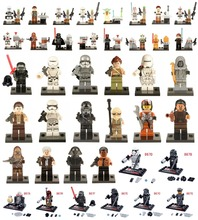 Single Sale  Star Wars Minifigures The Force Awakens Kylo Ren Darth Vader C3PO Yoda Solider Building Blocks Toys