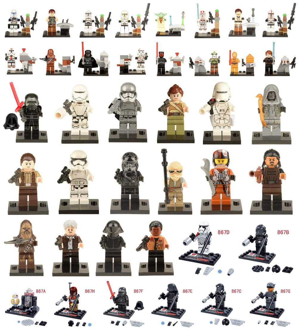 Single Sale Star Wars Minifigures The Force Awakens Kylo Ren Darth Vader C3PO Yoda Solider Building