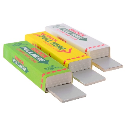 Safety Trick Joke Toy Gag Trick Electric Shock Chewing Gum Pull Head(China (Mainland))