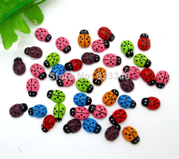 Гаджет  Free Shipping!200Pcs Mixed Wood Cute Beetles Flatback Cabochon Scrapbooking Crafts Fit Phone Embellishment 13x9mm None Дом и Сад