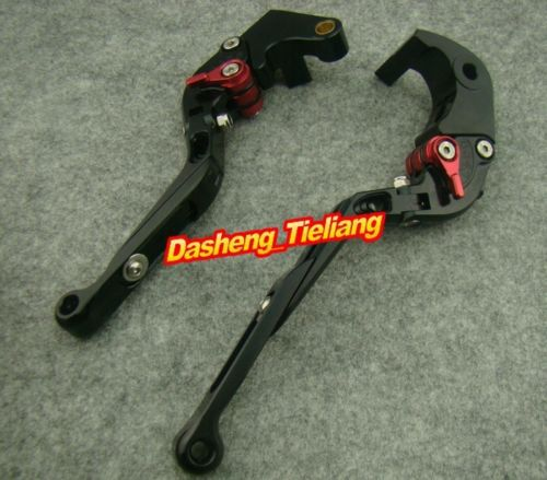 Foldable Brake Clutch Levers For 2007-2012 CBR600RR & 2008-2011 CBR1000RR Black + Red, China Spare Parts Accessory Manufacturer(China (Mainland))