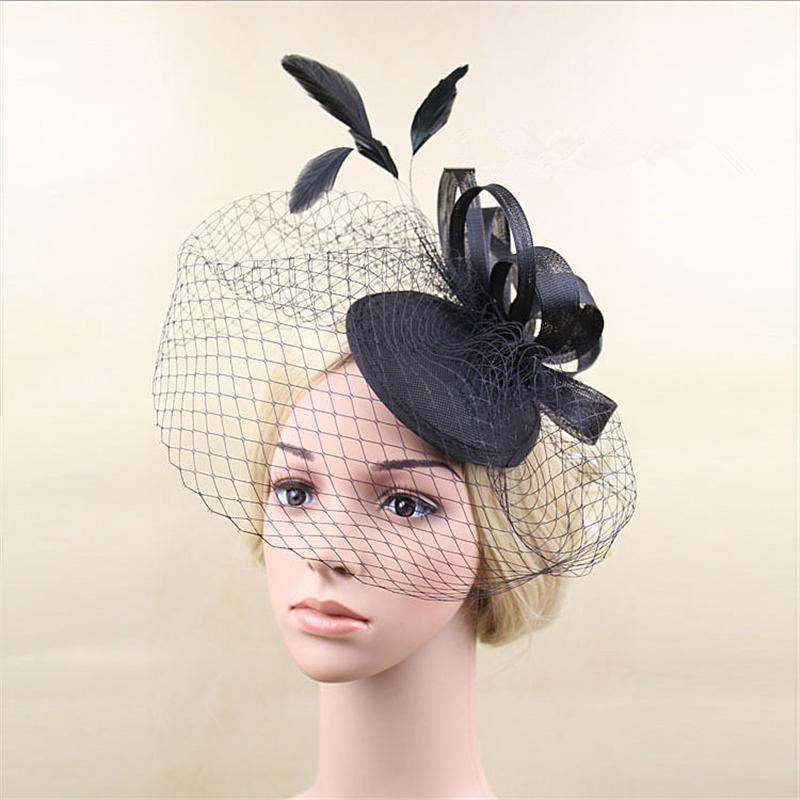 Feather Fascinator Clip Hat Veil Flowers Bridal Headpiece Wedding Hats And Fascinators Chapeu Cabelo Hair font