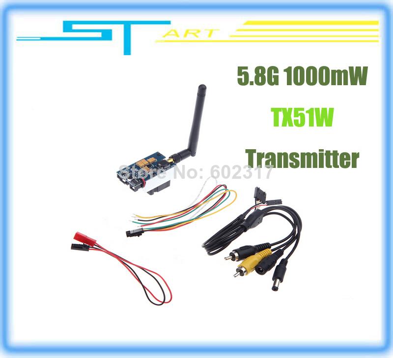 Low Shipping Boscam 5.8G 1000mW TX51W 5705-5945MHz AV Wireless Transmitter RC FPV Aerial DJI Phantom Quadcopter Toy kids(China (Mainland))