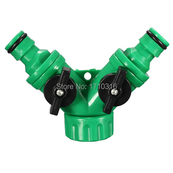 Lowest Price Brand New Garden Hose Pipe Tube Splitter 2 Way Connector Y Adaptor Tap Quick