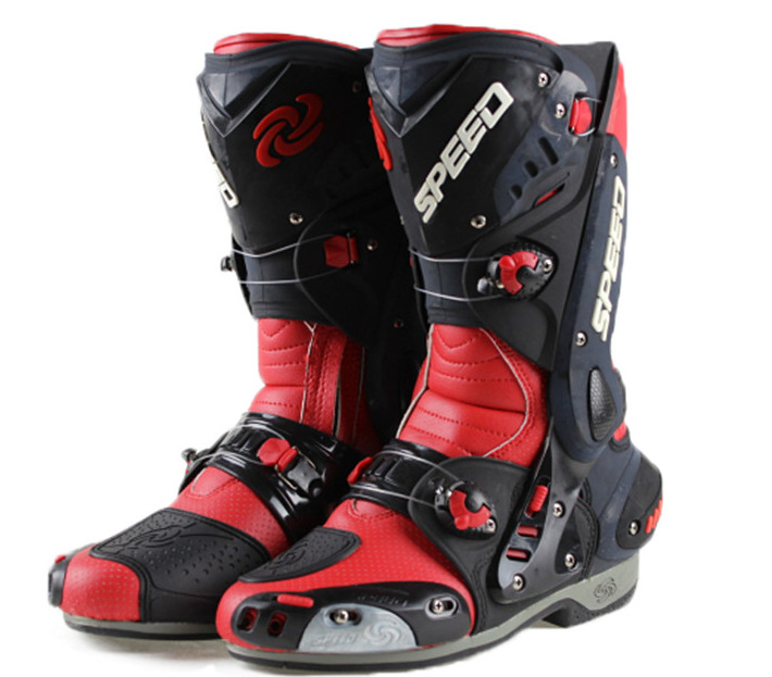 Free shipping B1003 PRO-BIKER Speed Hot Wheels racing boots motorcycle boots motorcycle boots shoes racing shoes / red