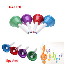Toy Musical Instrument Handbell Hand Bell 8-Note Metal Colorful Kid Children Musical Toy Percussion Instrument(China (Mainland))