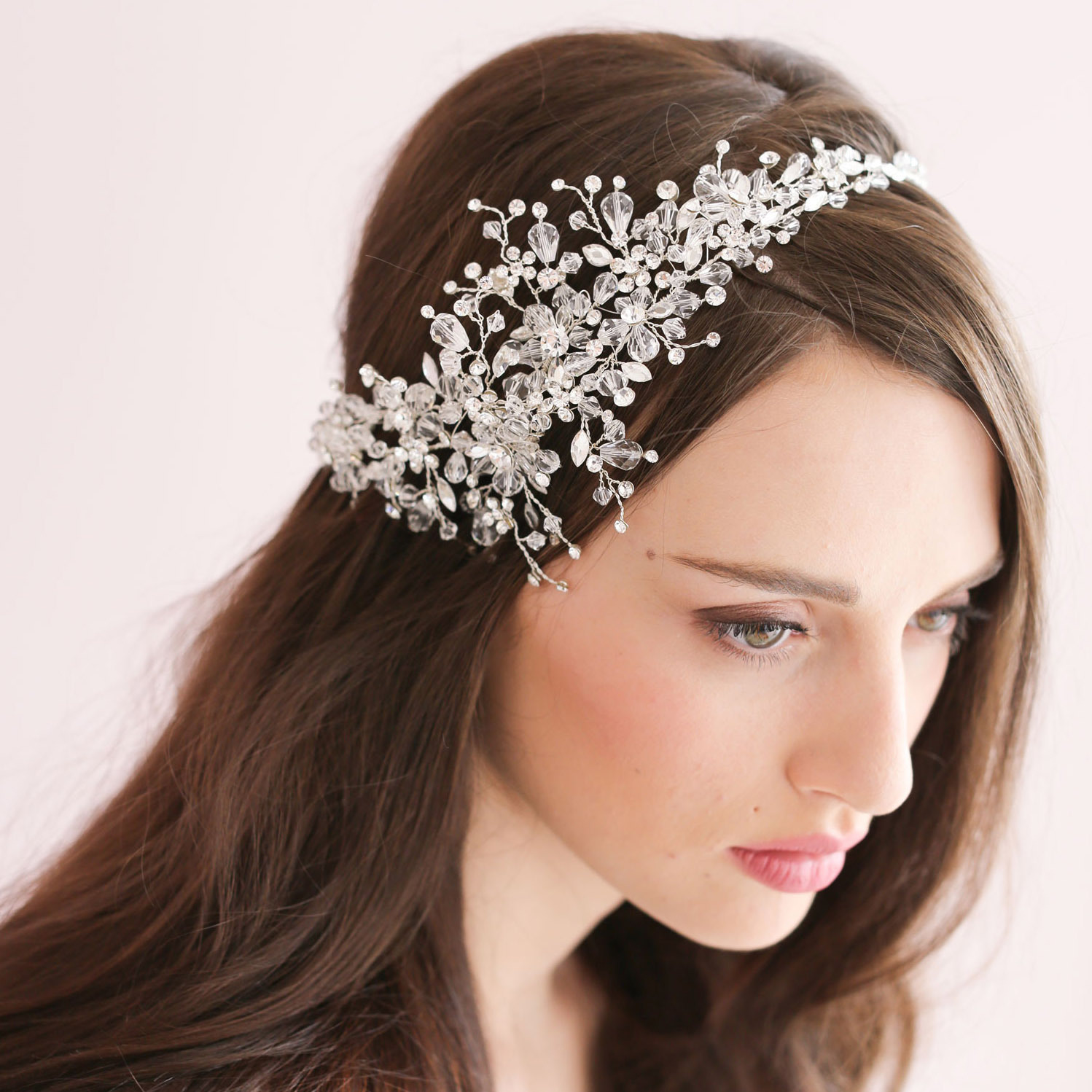real image 2015 wedding accessories beads crystal hair