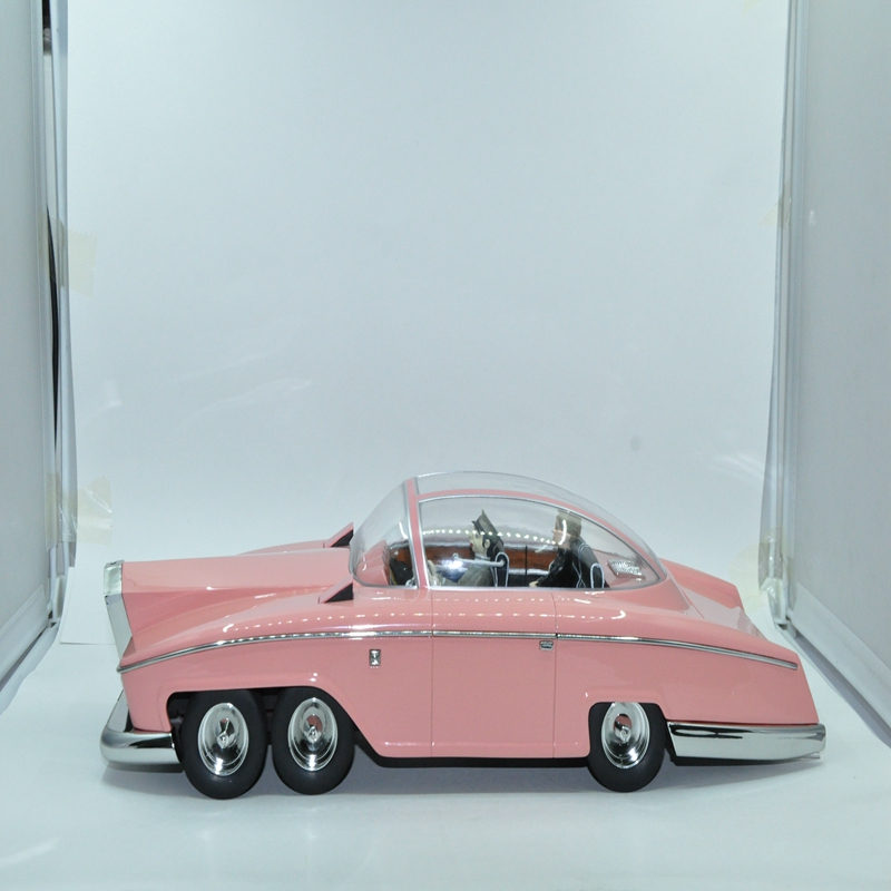 Resin model car collection THE TOYS 1/18 KOKUSAI BOEKI DAISHA LTD LADY PENELOPE'S FAB1 The car model for COLLECT THE PREFERRED(China (Mainland))