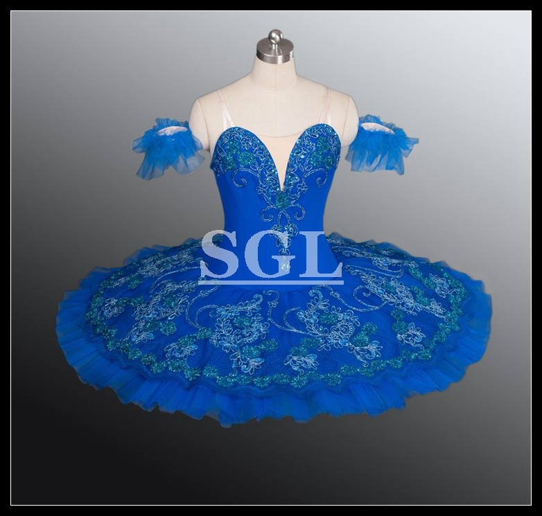 Free Shipping Women Ballet Tutu Stage Adult Professional Tutu Dress Blue Ballet Costume Classical Tutus For Performance AT1162Одежда и ак�е��уары<br><br><br>Aliexpress