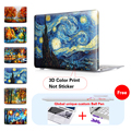 Starry Night Painting Crystal Laptop Case For Macbook Air 13 Case Air 11 Pro 13 15