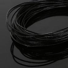 5 metros/lote Tamanho 1/1. 5/2/3mm 100% Cordão de Couro Genuíno Rodada Corda Cabo de Corda para Bracelet & Necklace Jóias Artesanato Fazer(China)