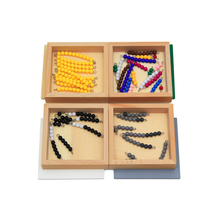 4Box/Lot Montessori Material Beech Wood Box Platic Beads Counting Math Toy Solitaire Game Toy Kids Early Educational Toy<br><br>Aliexpress
