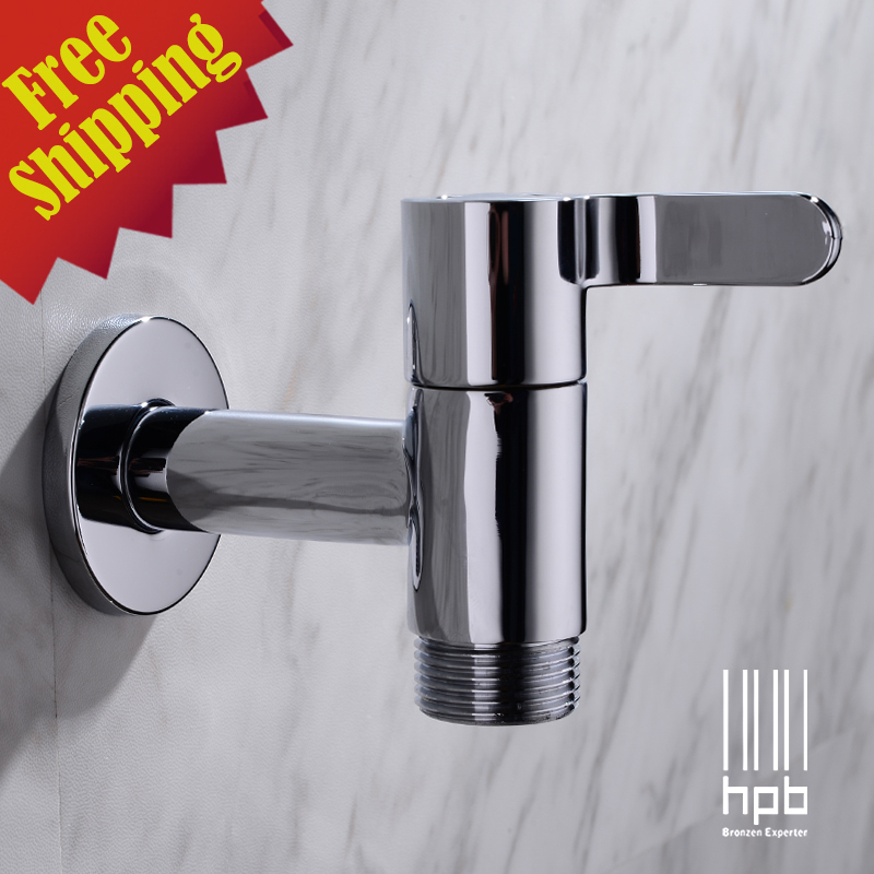 HPB Wholesale G3/4 Brass Cold Tap Wall Mounted Washing Machine Outdoor Garden Faucet Bibcock HP7308(China (Mainland))