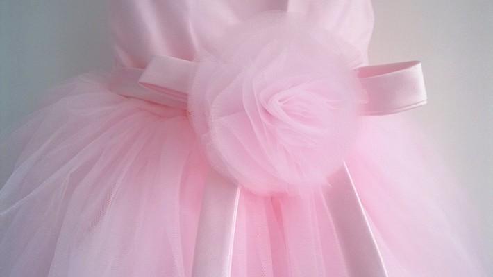 Скидки на ДЕТСКИЕ WOW Розовый Девушки Платья 1 Год Рождения Платье Девочка Рождественский Подарок Цветок Девочки Платья Vestido Infantil Menina 80118