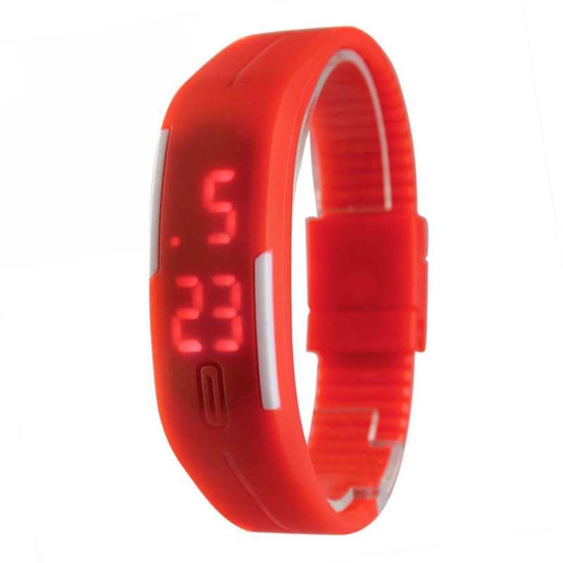 2017 Candy Color Men's Women's Quartz Watch Rubber LED kids Watches Date Bracelet Digital Sports Wristwatch for student