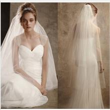 Stock Hot New 2017 Spring Styles 4 Layers White Wedding dresses Bridal Veils flor cabelo casamento noiva(China (Mainland))