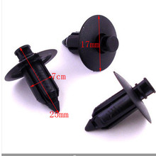 10pcs Universal Auto Car Parts Panel Trim Clips Plastic Rivet Fastener Black auto fasteners for cars