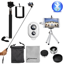Bluetooth Remote Control + Monopod Holder Tripod Lens For Mobile Cell Phone DC540