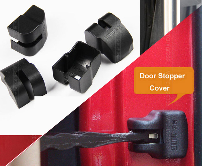 Accessories DOOR CHECK ARM COVER FOR MITSUBISHI ASX/ OUTLANDER SPORT /RVR STOPPER HINGE CAP(China (Mainland))