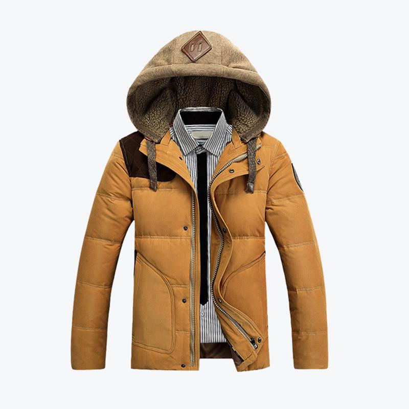 AFS JEEP 2015 Winter Jacket Men s Duck Down Coat Men Clothes Winter Outdoor Warm Sport