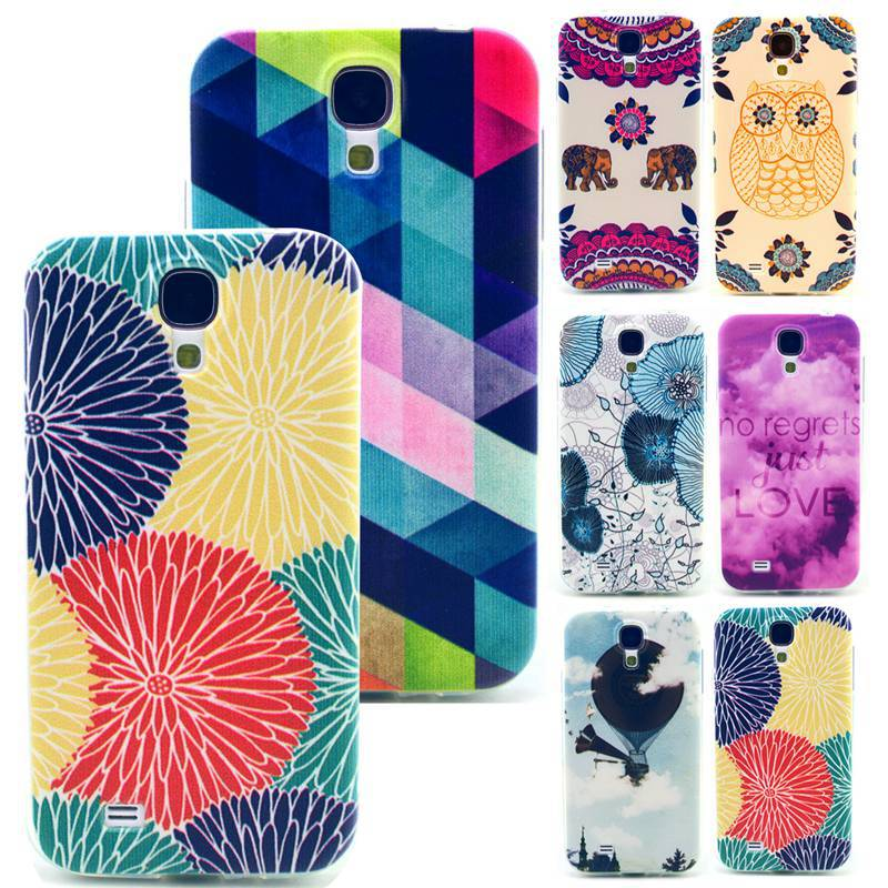 Colored Sunflowers Soft Tpu Gel Cover Case For Samsung Galaxy S4 I9500 Capa Para Protective Back Cover Skin Phone Cases S4 I9500(China (Mainland))