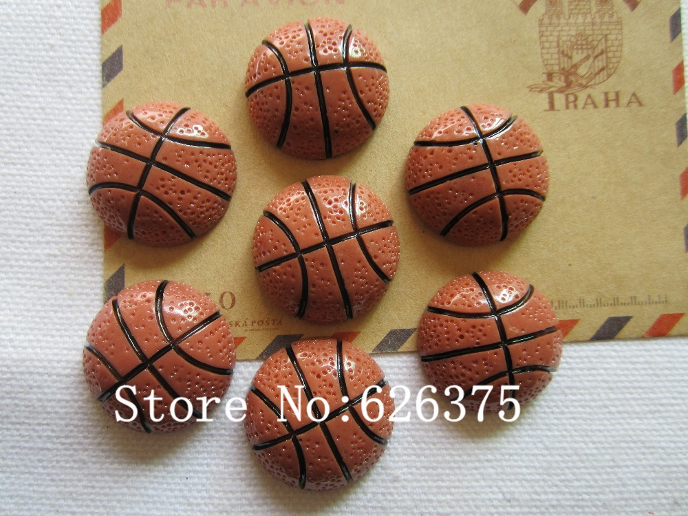 Rena!! Min.order $6 (mix order), Resin Hot Selling Cute Football for Hair Bow Center Phone Deco DIY (25mm), Free Shipping(China (Mainland))