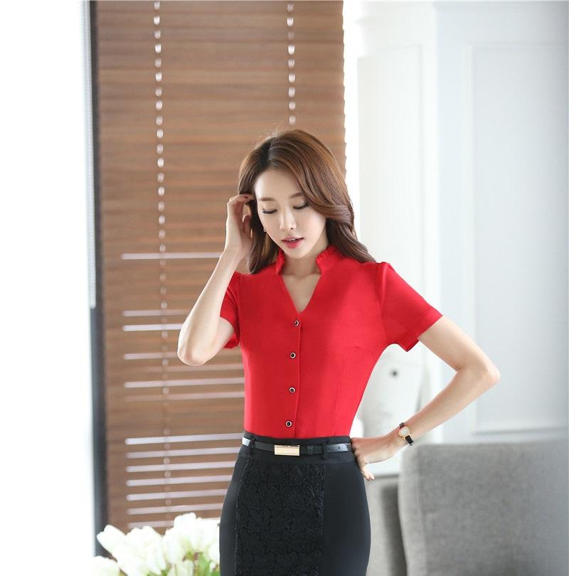 Elegant Korean Modern Women Chiffon Blouse/ Elegant Office Ladies Shirts /business Casual Blouse - Buy ...