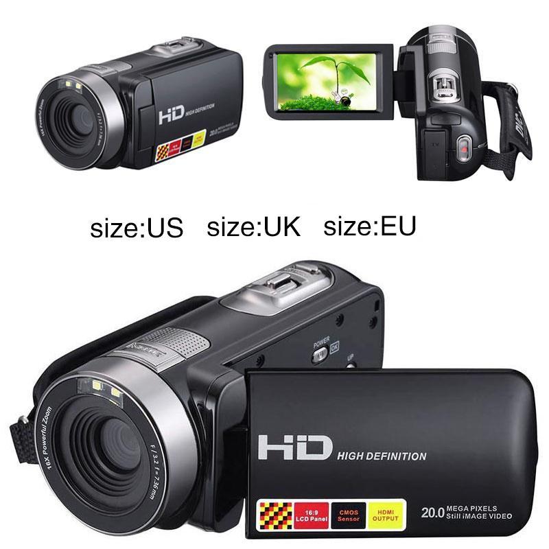 High Quality 1080P HD Night Vision Black Digital Camera Video DV 3.0/'/' 16x Zoom Cam US/EU/UK Plug For Option