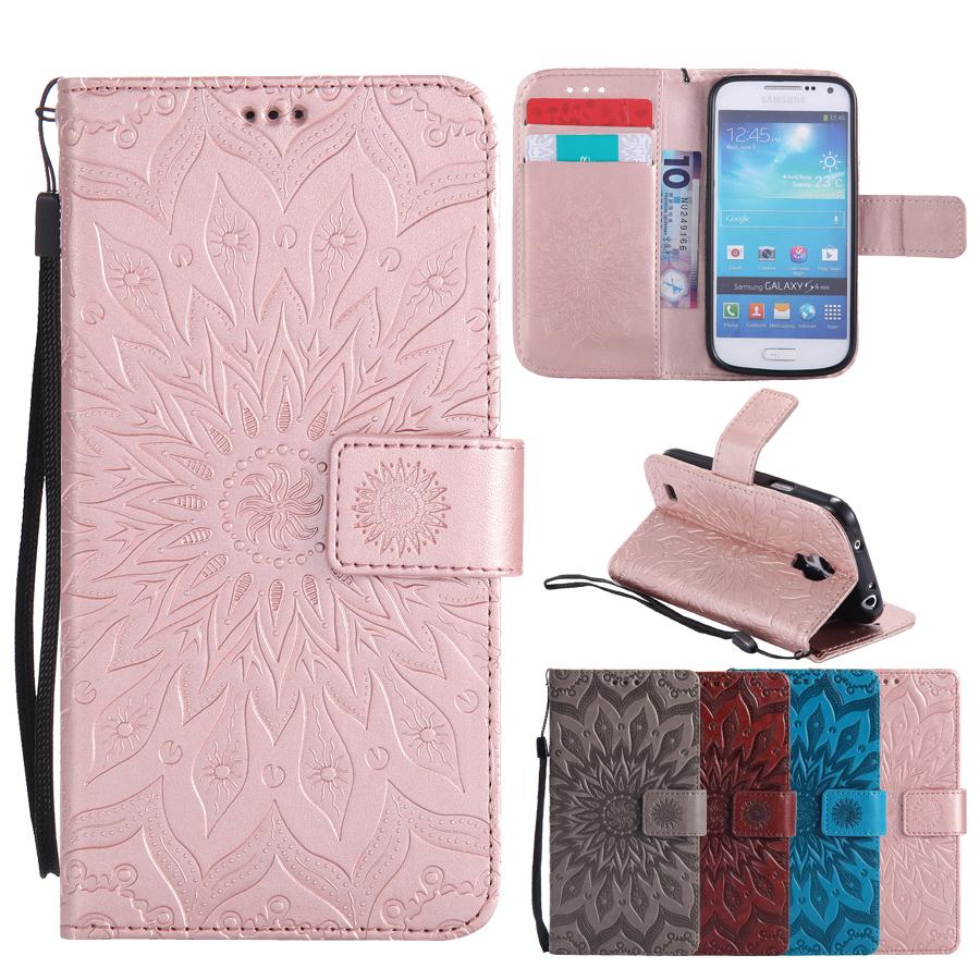 Flip Leather Case sFor Fundas samsung galaxy s4 mini case coque samsung galaxy s4 mini i9190 Wallet Cover Phone Cases
