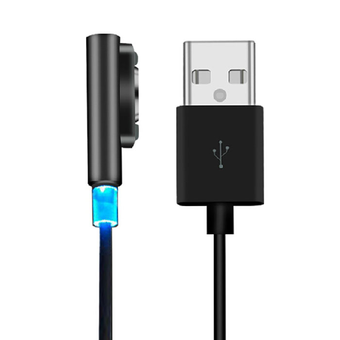 Hot Marketing Magnetic Charging Cable W/LED For Sony Xperia Z3 L55t Z2 Z1 Compact XL39h June30(China (Mainland))